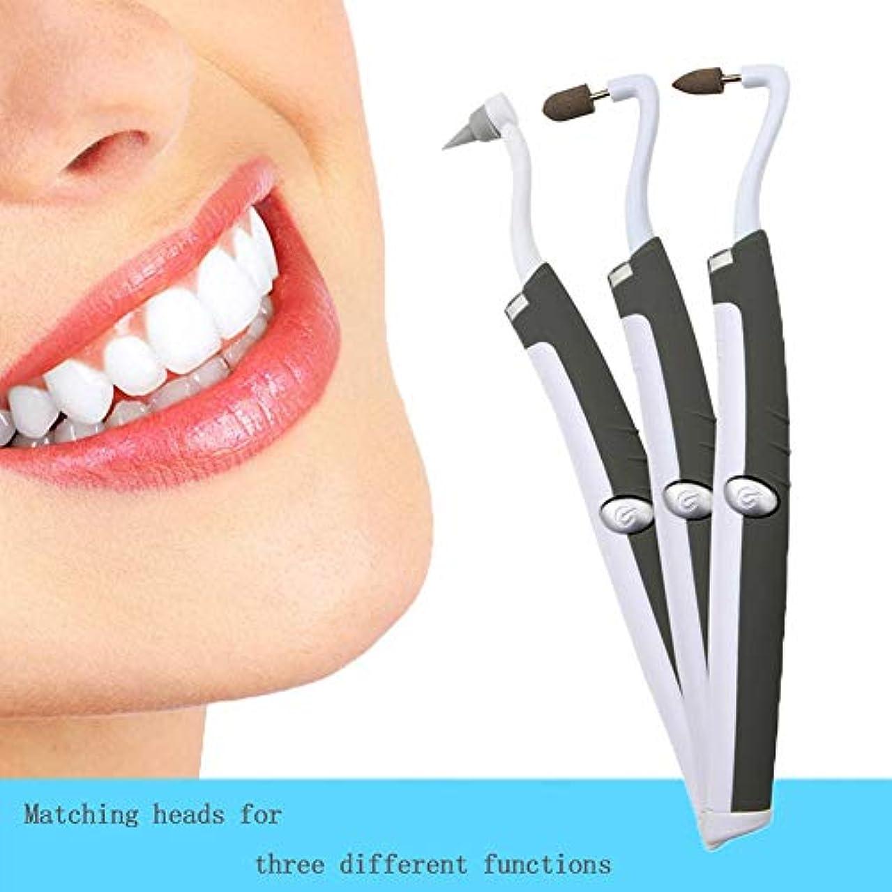 鎖カラスキャロライン歯石除去剤-変色を取り除き、歯を白くする歯石除去剤歯石が歯を除去しますポーランドのスリップが歯垢の汚れを防ぎます(3頭)