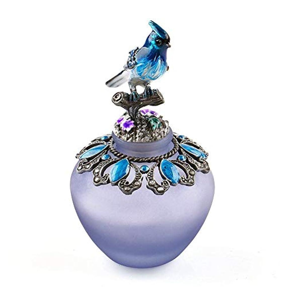 主権者元に戻すEasyRaku 高品質 美しい香水瓶 鳥40ML ガラスアロマボトル 綺麗アンティーク調欧風デザイン クリスマスプレゼント 結婚式 飾り