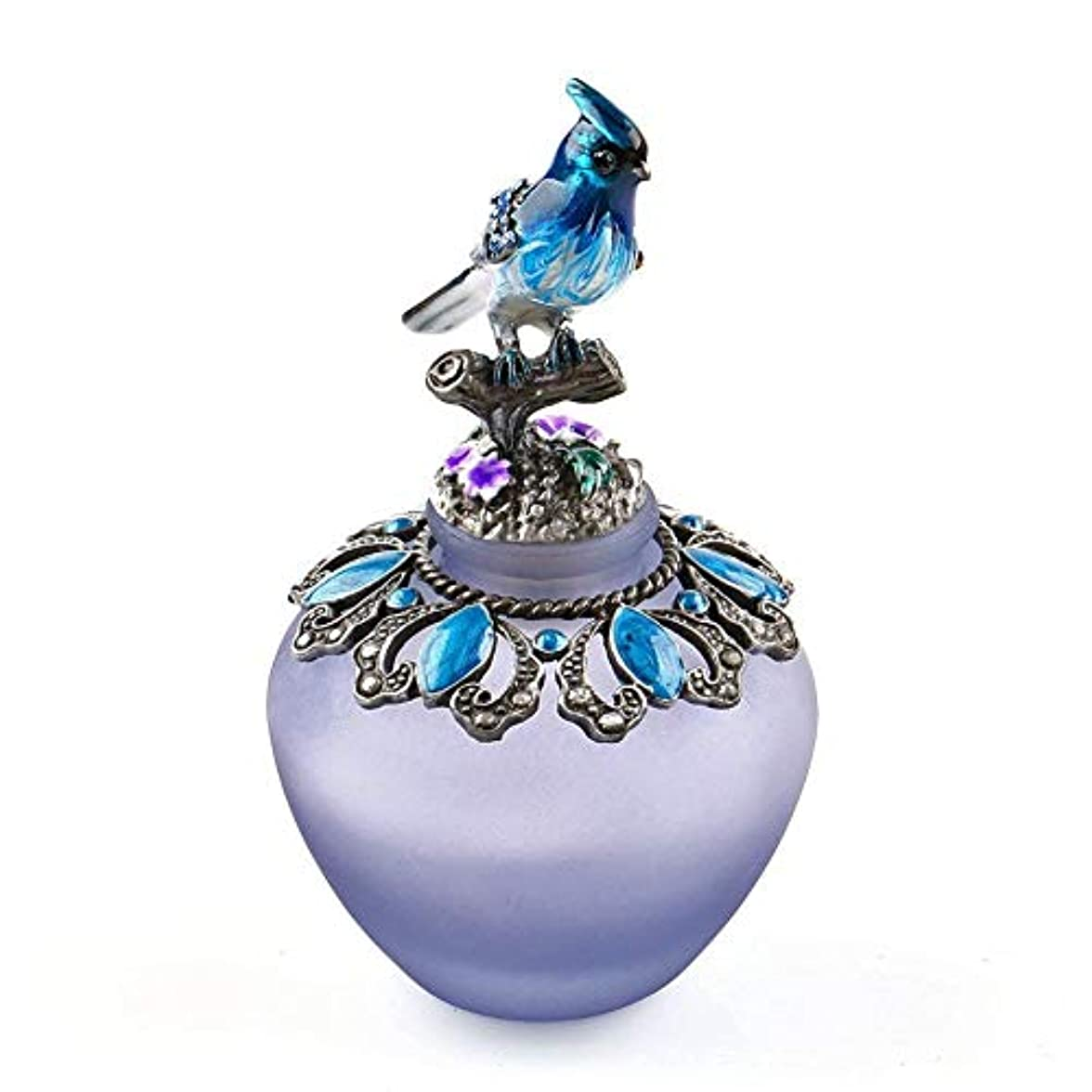 かび臭い副人質EasyRaku 高品質 美しい香水瓶 鳥40ML ガラスアロマボトル 綺麗アンティーク調欧風デザイン クリスマスプレゼント 結婚式 飾り