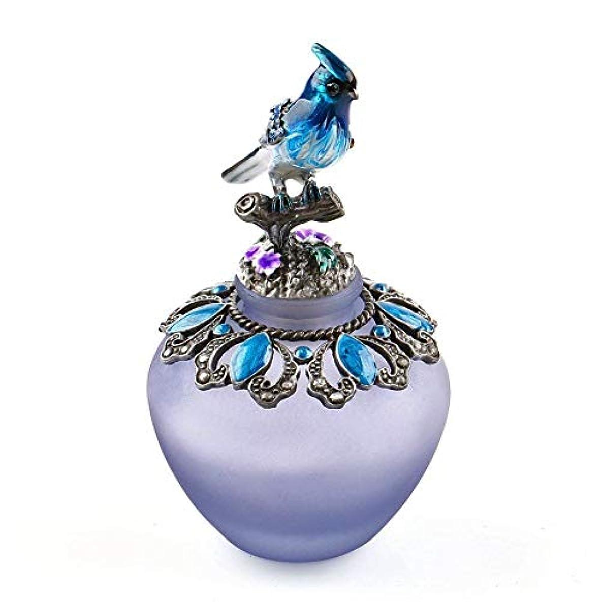 口述アコード中古EasyRaku 高品質 美しい香水瓶 鳥40ML ガラスアロマボトル 綺麗アンティーク調欧風デザイン クリスマスプレゼント 結婚式 飾り