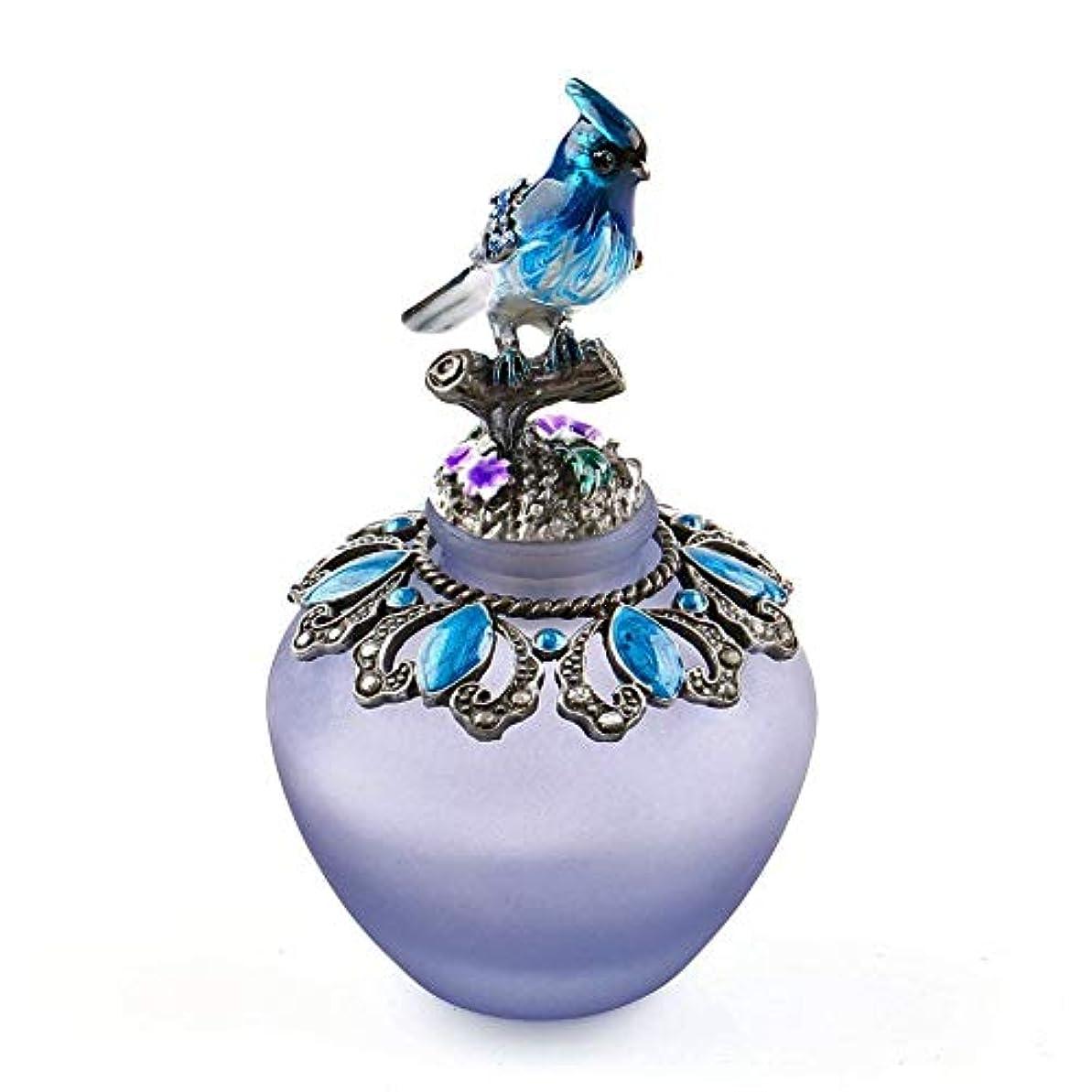 画家しっかり動力学EasyRaku 高品質 美しい香水瓶 鳥40ML ガラスアロマボトル 綺麗アンティーク調欧風デザイン クリスマスプレゼント 結婚式 飾り