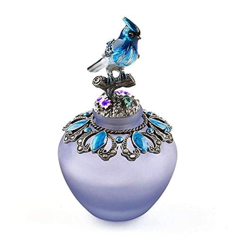 応援するかご予想するEasyRaku 高品質 美しい香水瓶 鳥40ML ガラスアロマボトル 綺麗アンティーク調欧風デザイン クリスマスプレゼント 結婚式 飾り