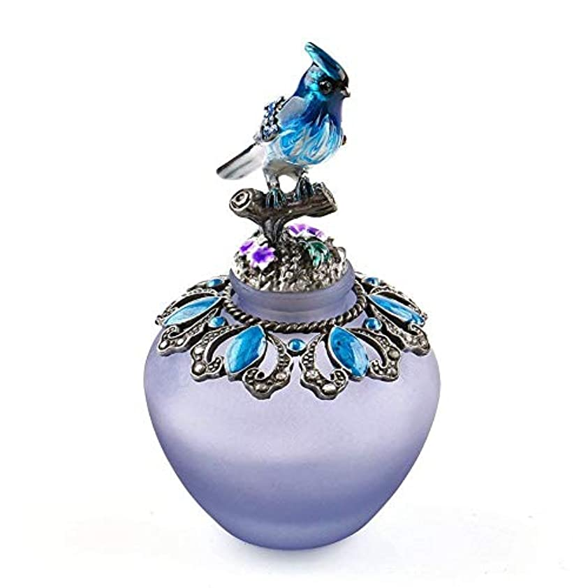 退屈させる文字勝利EasyRaku 高品質 美しい香水瓶 鳥40ML ガラスアロマボトル 綺麗アンティーク調欧風デザイン クリスマスプレゼント 結婚式 飾り