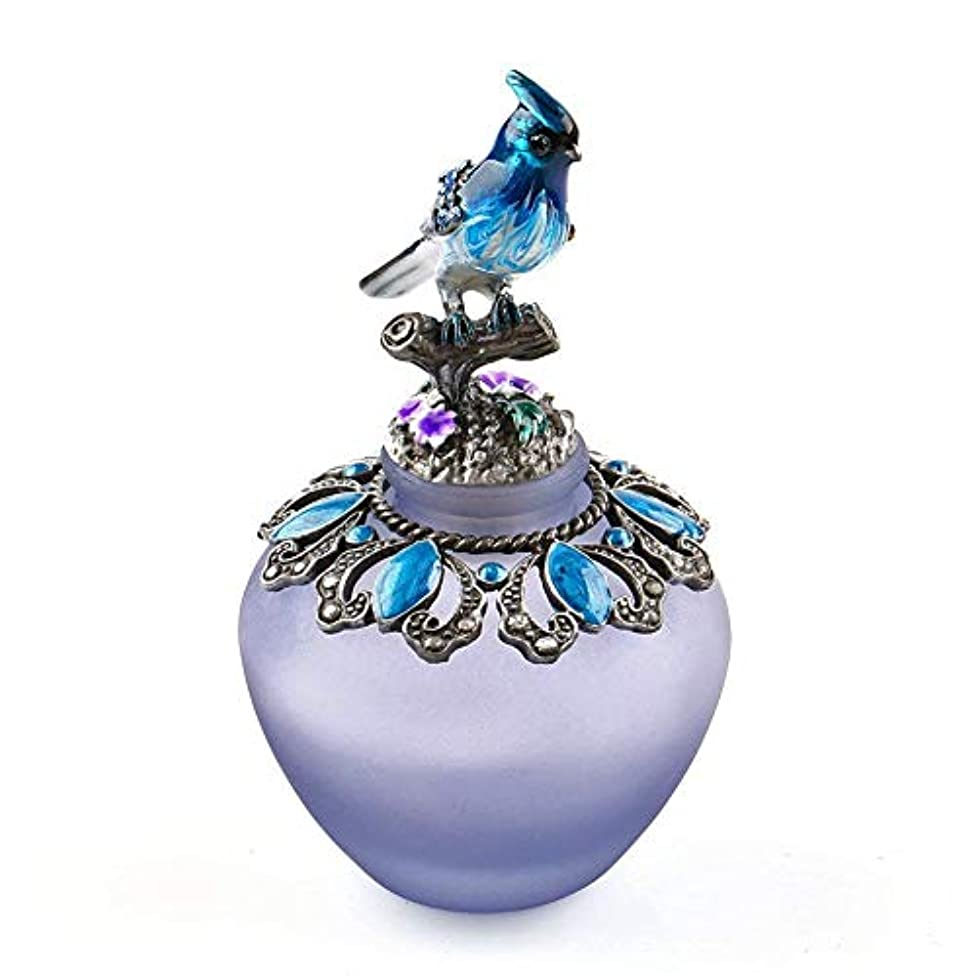 物語トランスペアレント刃EasyRaku 高品質 美しい香水瓶 鳥40ML ガラスアロマボトル 綺麗アンティーク調欧風デザイン クリスマスプレゼント 結婚式 飾り