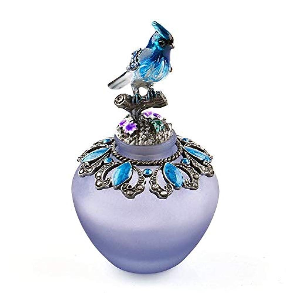 ブラウン出演者池EasyRaku 高品質 美しい香水瓶 鳥40ML ガラスアロマボトル 綺麗アンティーク調欧風デザイン クリスマスプレゼント 結婚式 飾り