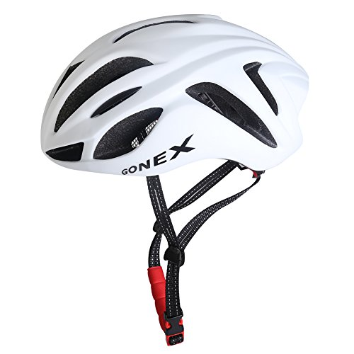 Gonex大人用超軽量 高剛性 自転車用 サイクリング ヘルメット 蒸れ防止 19個通気孔 白