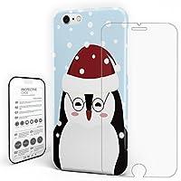 iPhone8 ケース / iPhone7 ケース クリア 耐衝撃カバー PC [全面保護][落下衝撃吸収][薄型 軽量] iPhoneX 2018年[ iPhone8/7ケース 専用 ]ペンギン