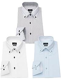 yシャツ メンズ 長袖 ビジネス ワイシャツ 長袖 3枚組入り 多色選択