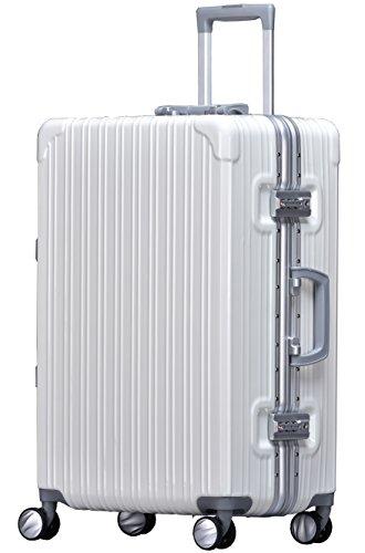 [luckypanda(ラッキーパンダ)] TSAロック搭載 アルミ合金フレーム スーツケース TY6801 機内持ち込み可 S ホワイト
