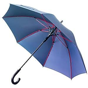 Anntrue 傘 レディース 長傘 ワンタッチ式ジャンプ傘 丈夫 耐風 Teflon加工 グラスファイバー 軽量 大型 梅雨対策 晴雨兼用 130cm 永久保証付き 収納ポーチ付き