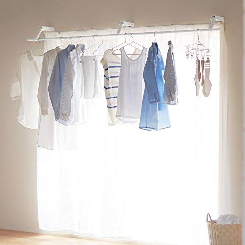 [ベルメゾン] カーテン 物干し 室内 窓上 設置 省スペース 花粉 梅雨 長雨対策「浮かせて干す!」