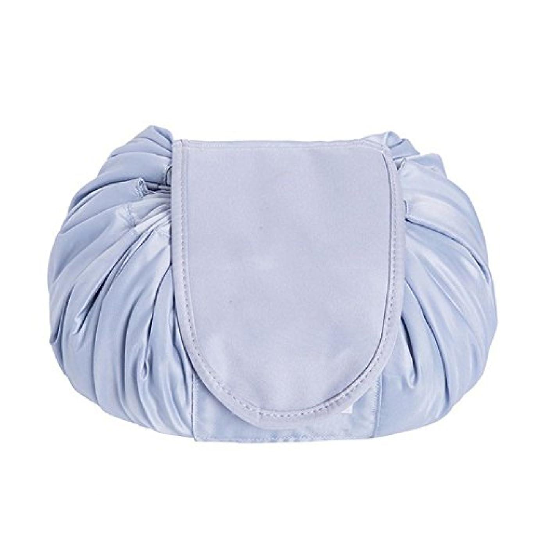 避難するノミネート自分のSimonJp メイクポーチ 化粧ポーチ 化粧品収納 収納ポーチ 多機能 大容量 巾着袋 防水 携帯 軽量 旅行 便利 グレー