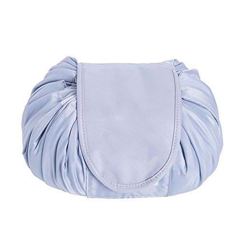 SimonJp メイクポーチ 化粧ポーチ 化粧品収納 収納ポーチ 多機能 大容量 巾着袋 防水 携帯 軽量 旅行 便利 グレー