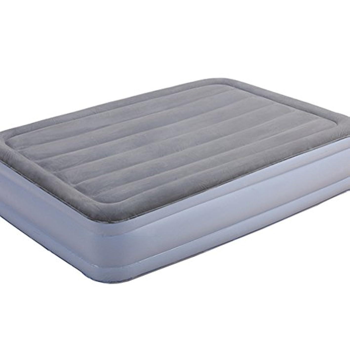 一月皮緊張シングルハイエアベッドレストクラシックレッグエアベッド、電気ポット、ベッドの高さ45cm、シルバーグレー