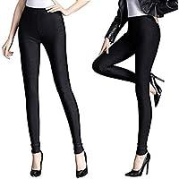 Weigou Woman Leggings Lady Fashion Tights Winter Outdoor Thick Shiny Fleece Leggings Pants