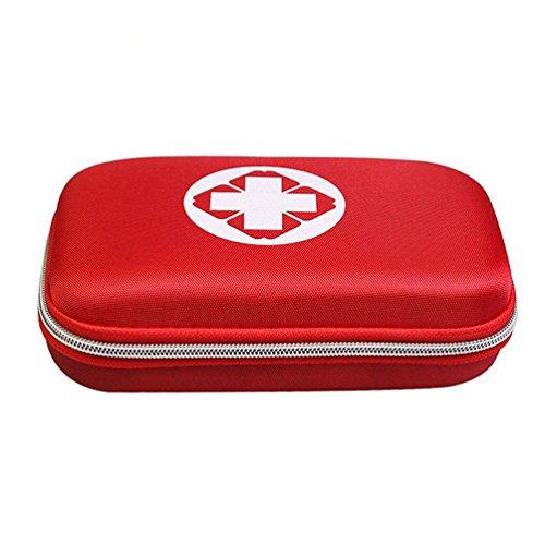 Sheltons 携帯用救急箱 緊急応急セット 防災セット ファーストエイドキット スポーツケア 応急処置17種類 (レッド)
