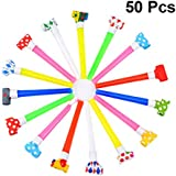 Toyvian 20 Pcs Kids Blow Outs Birthday Party Plastic Whistle Noisemaker Blowouts Whistles for Kids Birthday Party Supplies