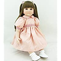 PursueベビーソフトボディリアルタッチLifelikeベビーガール人形、24インチリアルなWeighted Princess Toddler Doll With Long Hair