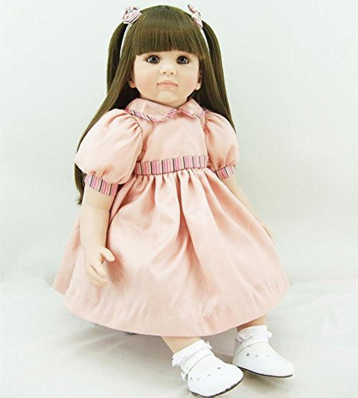 PursueベビーソフトボディリアルタッチLifelikeベビーガール人形、24インチリアルなWeighted Princess Toddler Doll With Long Hair
