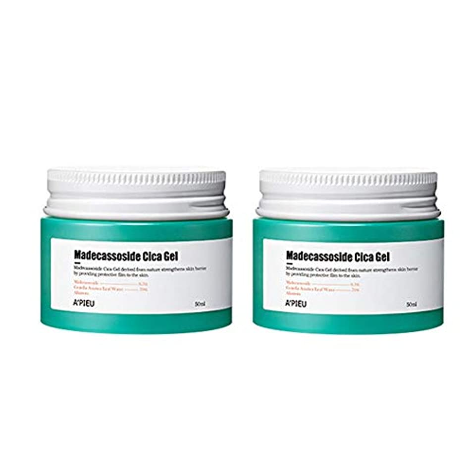リーチ出費文房具オピュマデカソサイドシカゲル50ml x2本セット皮膚の損傷の改善、A'pieu Madecassoside Cica Gel 50ml x 2ea Set Skin Damage Care [並行輸入品]