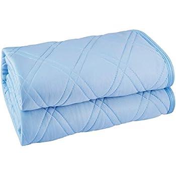 敷きパット 接触冷感 ひんやり 敷きパット ベッドパッド クールパッド シングル(約100×200cm) メッシュで通気性UP 防ダニ 抗菌・防臭・防ダニ加工 丸洗いOK (ブルー シングル(約100×200cm)
