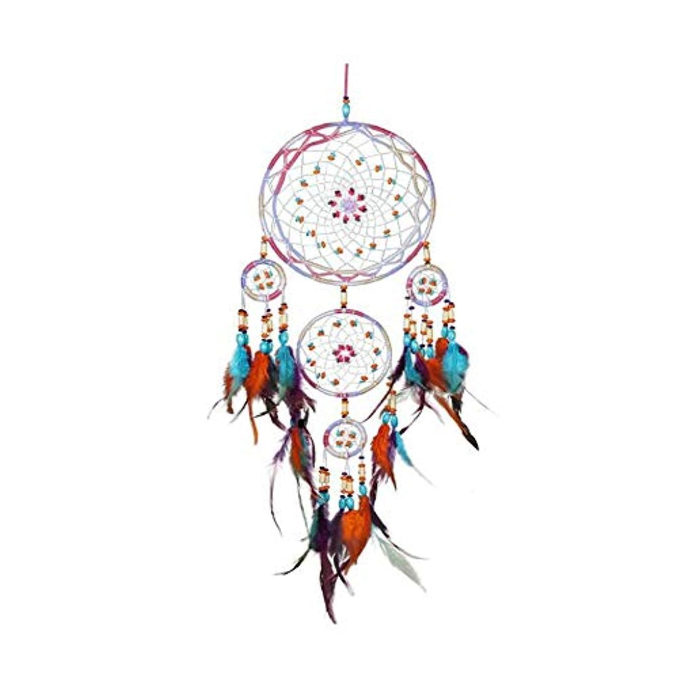 赤道いらいらさせるブレンド風チャイム、手作りファイブリング風チャイム、パープル、全長約50CM (Color : Color, Size : 50cm)
