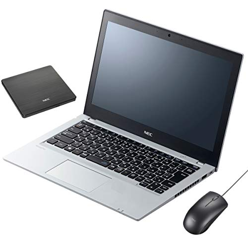 【MS Office搭載】NEC VersaPro UltraLite VB PC-VKL27BZG2 Windows10 Pro 64bit Corei3-7130U 2.7GHz 4GB SSD 128GB 光学ドライブ非搭載 高速無線LAN IEEE802.11ac/a/b/g/n Bluetooth HDMI USB3.1 webカメラ Microsoft Office Personal 2016搭載 12.5型LED液晶ノートパソコン USB外付DVDスーパーマルチドライブ&USB光センサーマウス同梱 (Microsoft Office Personal 2016)