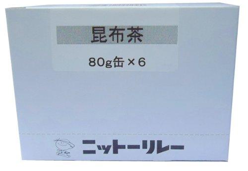 ニットーリレー 昆布茶 6缶入
