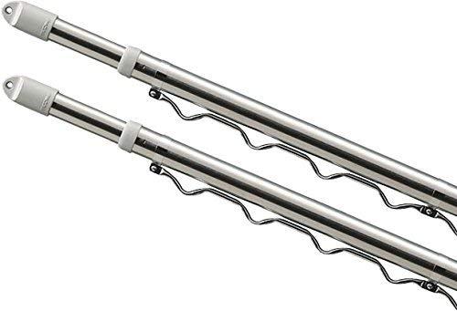 O&DING伸縮物干し竿 ステンレス ハンガー 突っ張り棒 伸縮棒 強力 幅 1.6m~4M ストレート ハンガーかけ付 (1.5M~4M ハンガーかけ付×1本)