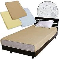 メーカー直販ベッド用 防水シーツ(おねしょ?介護用シーツ)フリーサイズ(ダブル~クイーン使用可)200×240cm (ブラウン)