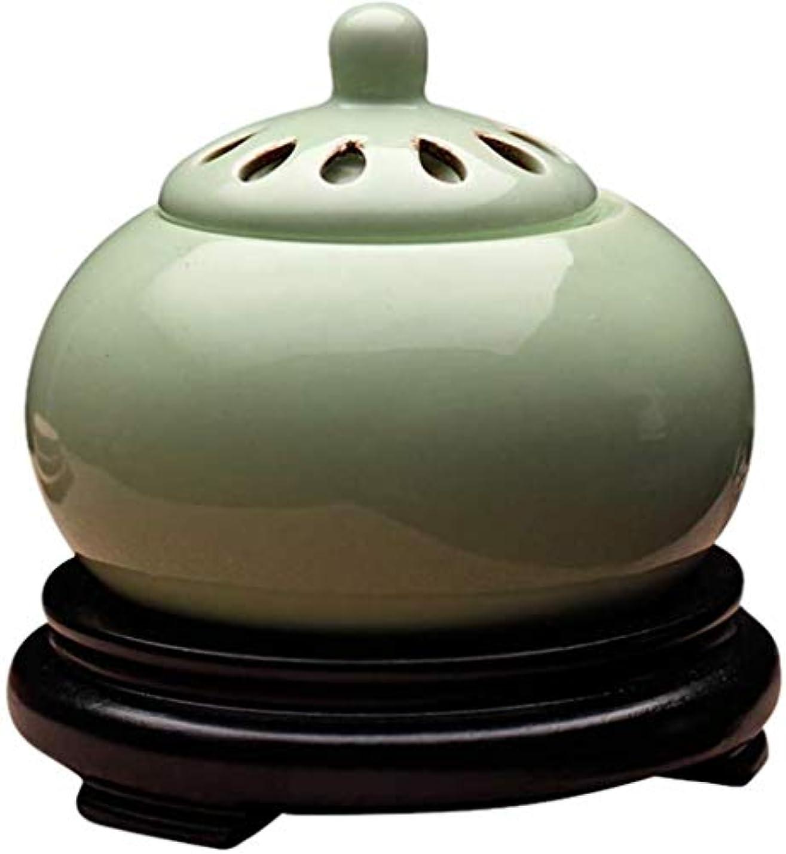 可能ミシン目毎年MYTDBD 香炉電子温度制御ホーム?デバイス?アロマ炉電気ディフューザー (Color : Green)