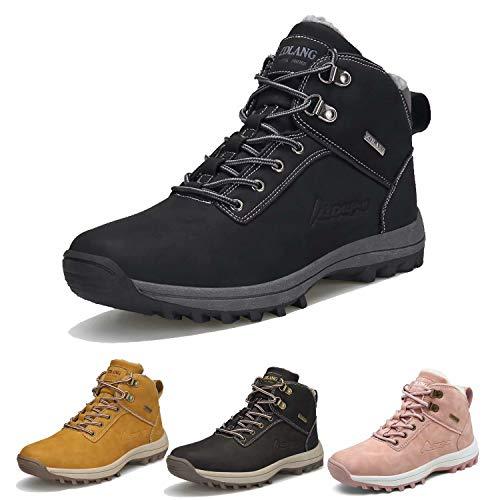 [ZanYeing] カップルお揃い 防水 防滑 スノーブーツ 綿靴 メンズ ショットブーツ 裏ボア 防寒 レディーズ ウィンターブーツ アウトドア 軽作業 23cm-28.5cm トレッキングシューズ 耐摩耗 登山靴 ウォーキング