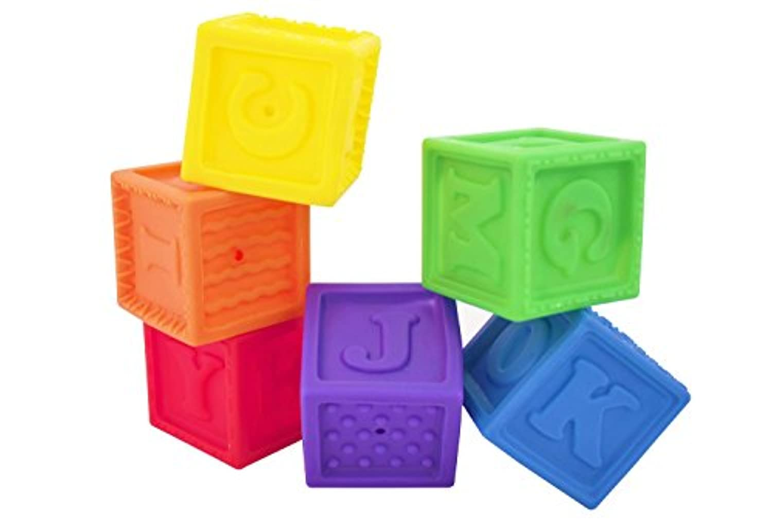 Sassy Developmental Bath Toy, Squirt and Squeak Blocks (Discontinued by Manufacturer) [並行輸入品]