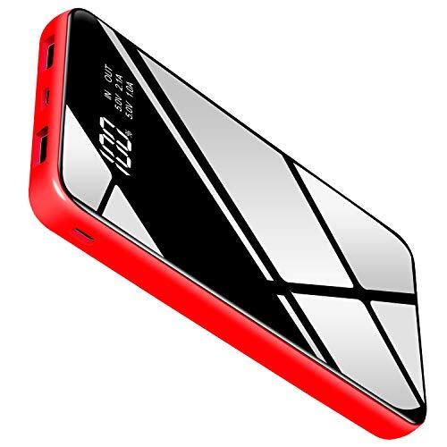 Ruipu モバイルバッテリー 大容量 25000mah PSE認証済 LCD残量表示 QuickCharge急速持ち運び充電器 2USB出力ポート MicroUSBとType-C入力ポート 鏡面仕上げデザインの高級感 地震/災害/旅行/出張/アウトドア活動などの必携品