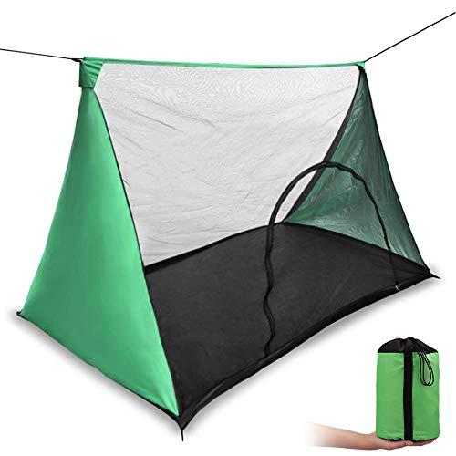 モスキートネット (蚊帳) 超軽量携帯式テント キャンピング、キャンプ、アウトドアに (緑色)