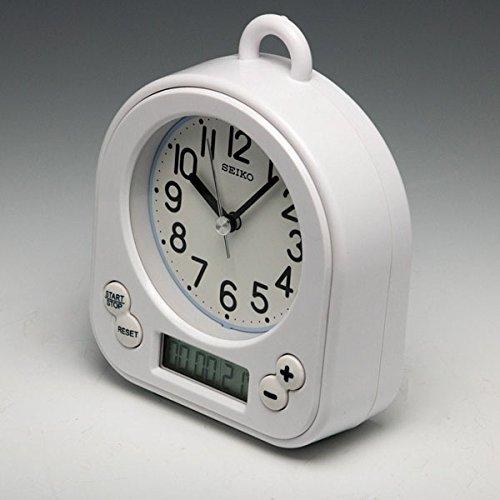 (セイコークロック) SEIKO CLOCK キッチン バス クロック お風呂用時計 BZ358W 生活防水 タイマー 白 ホワイト アナログ