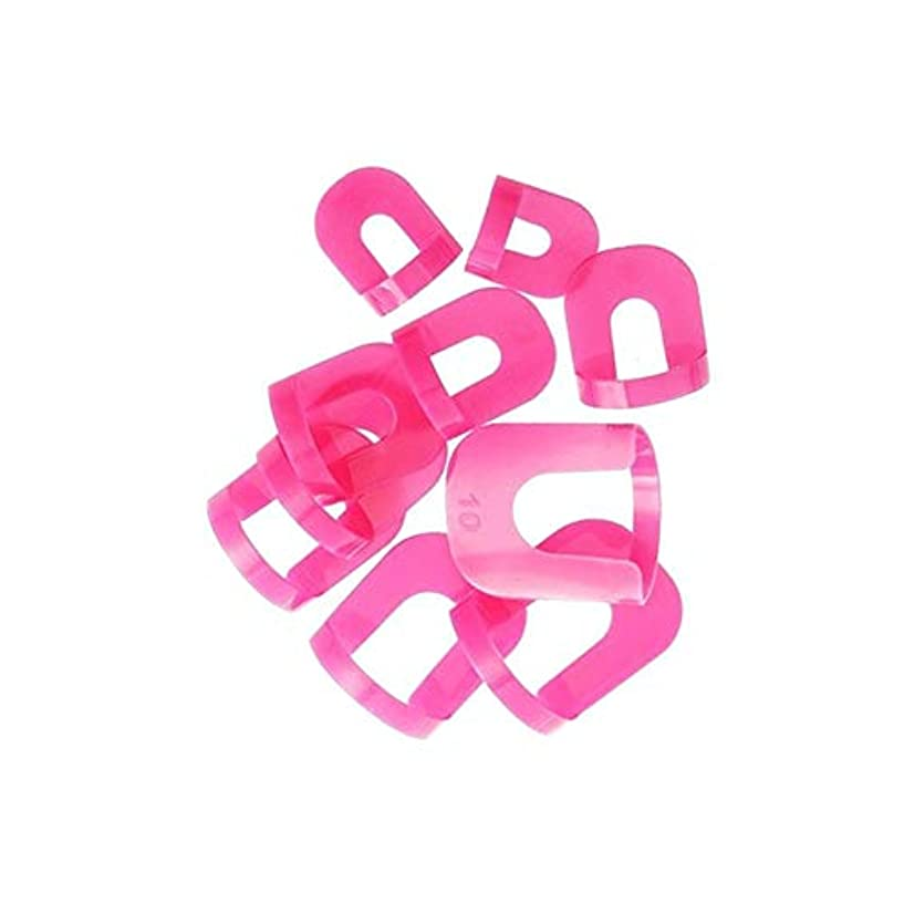 貫通する生き返らせる保有者マニキュア保護テンプレート保護曲線状多指マニキュアの1セット、マニキュアが流出ホルダ10色ランダムサイズの互換性を持って設定します