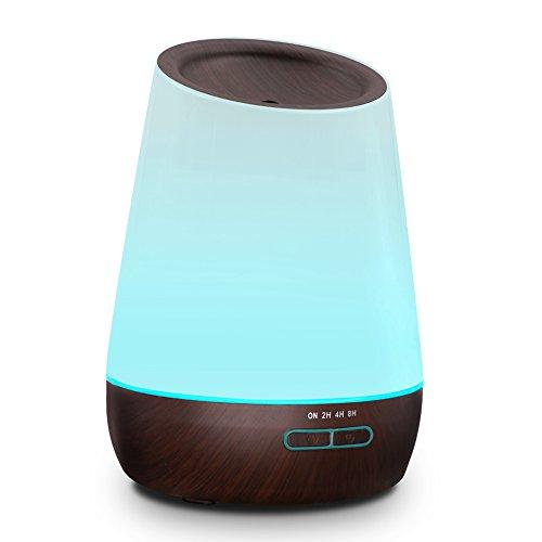 hysure アロマ加湿器 500ML かおり 超音波 加湿器 アロマディフューザー うるおい 乾燥対策 七色LED変換