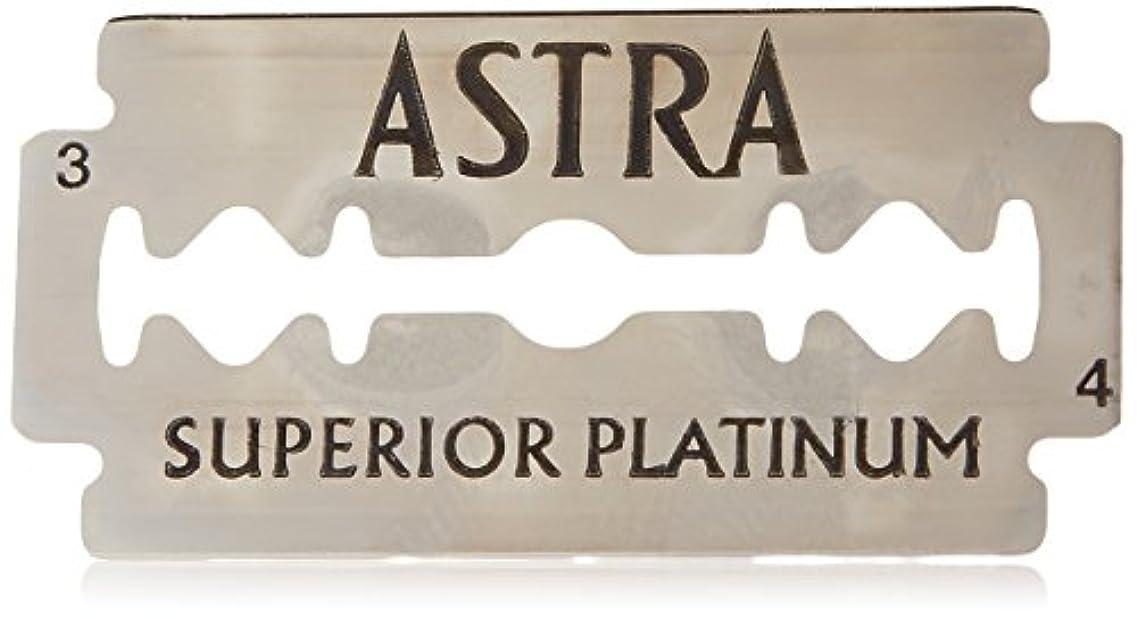 雨生きている石Astra Superior Platinum (アストラ 優れたプラチナ) 両刃替刃 50個入り (5 x 10) [並行輸入品]