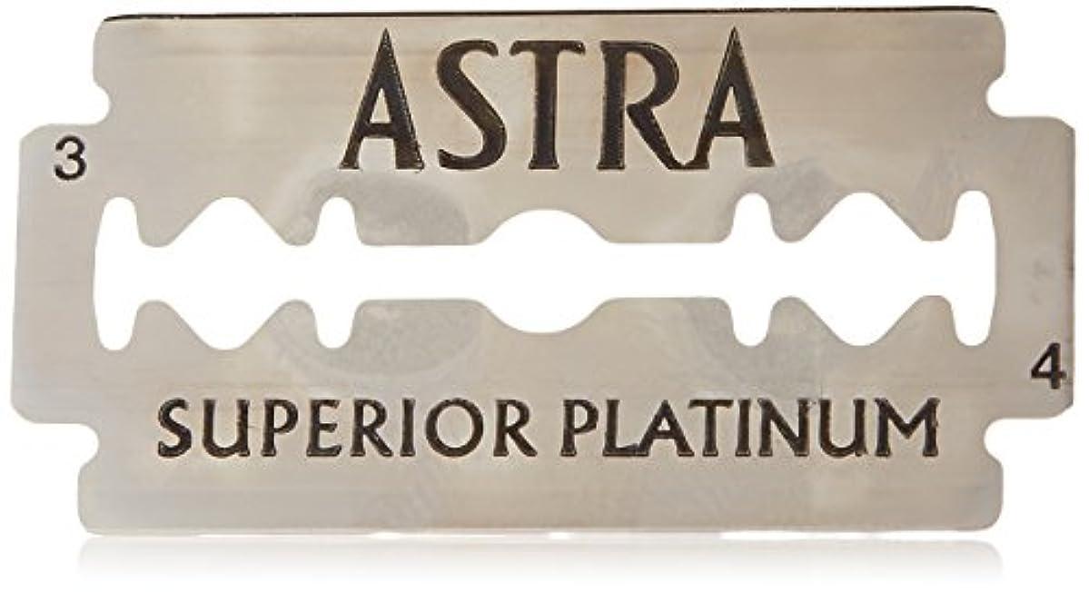浴室アテンダントマオリAstra Superior Platinum (アストラ 優れたプラチナ) 両刃替刃 50個入り (5 x 10) [並行輸入品]
