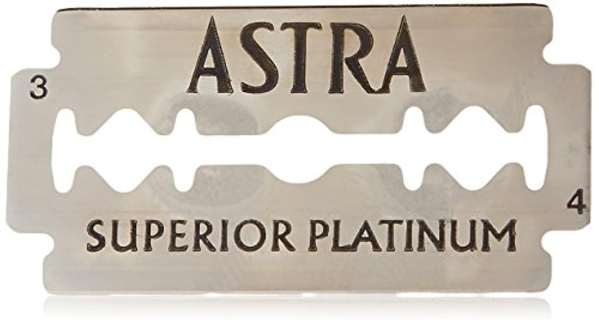 レイプ廃止。Astra Superior Platinum (アストラ 優れたプラチナ) 両刃替刃 50個入り (5 x 10) [並行輸入品]