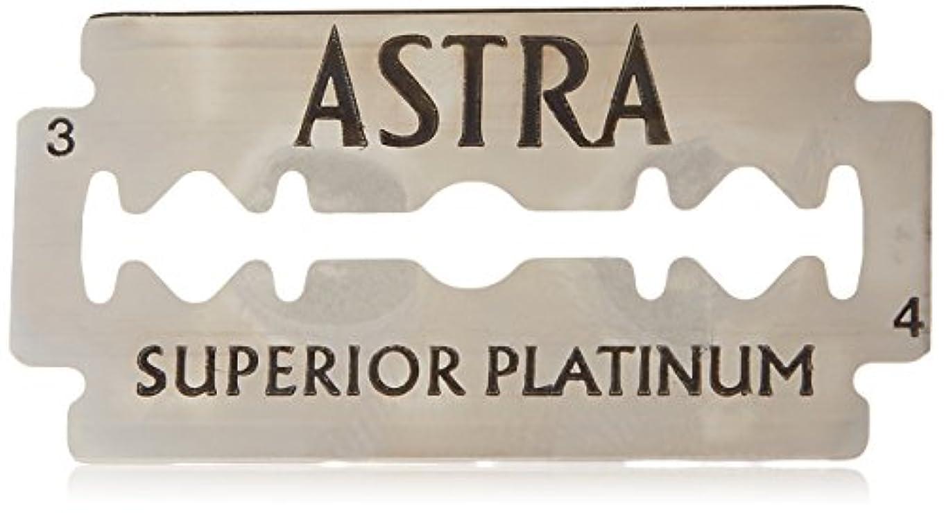 アクセル団結スカルクAstra Superior Platinum (アストラ 優れたプラチナ) 両刃替刃 50個入り (5 x 10) [並行輸入品]