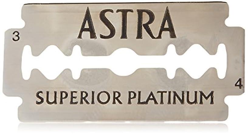 シガレット切手古風なAstra Superior Platinum (アストラ 優れたプラチナ) 両刃替刃 50個入り (5 x 10) [並行輸入品]