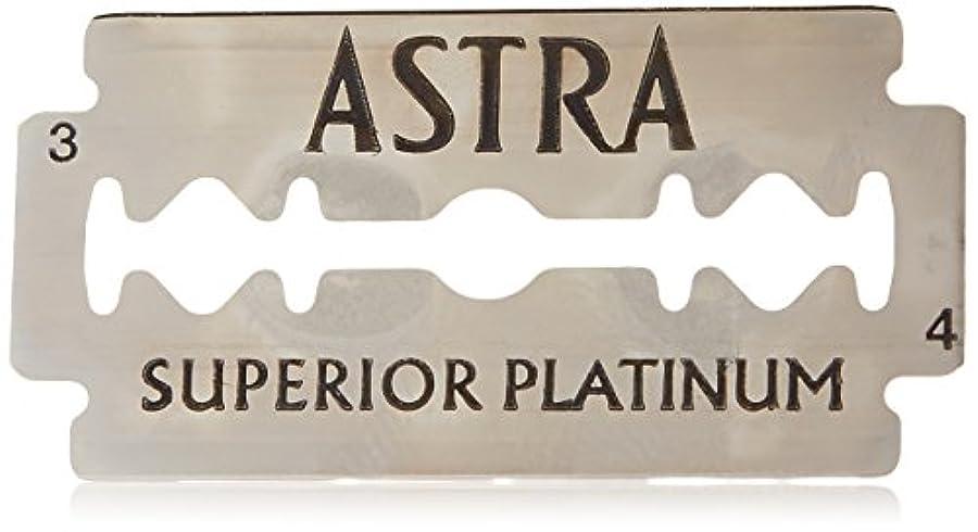 一流克服する鼻Astra Superior Platinum (アストラ 優れたプラチナ) 両刃替刃 50個入り (5 x 10) [並行輸入品]