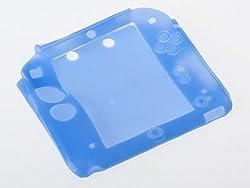 ニンテンドー 2DS シリコン製 ソフトケース 保護カバー #ブルー