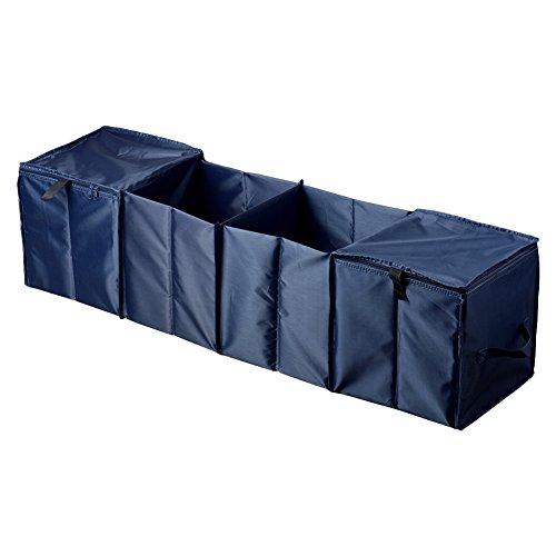 車用収納ボックスQUETA 車用収納ケース 大容量折り畳み式 4ボックス 保温保冷機能 クーラーボックス付