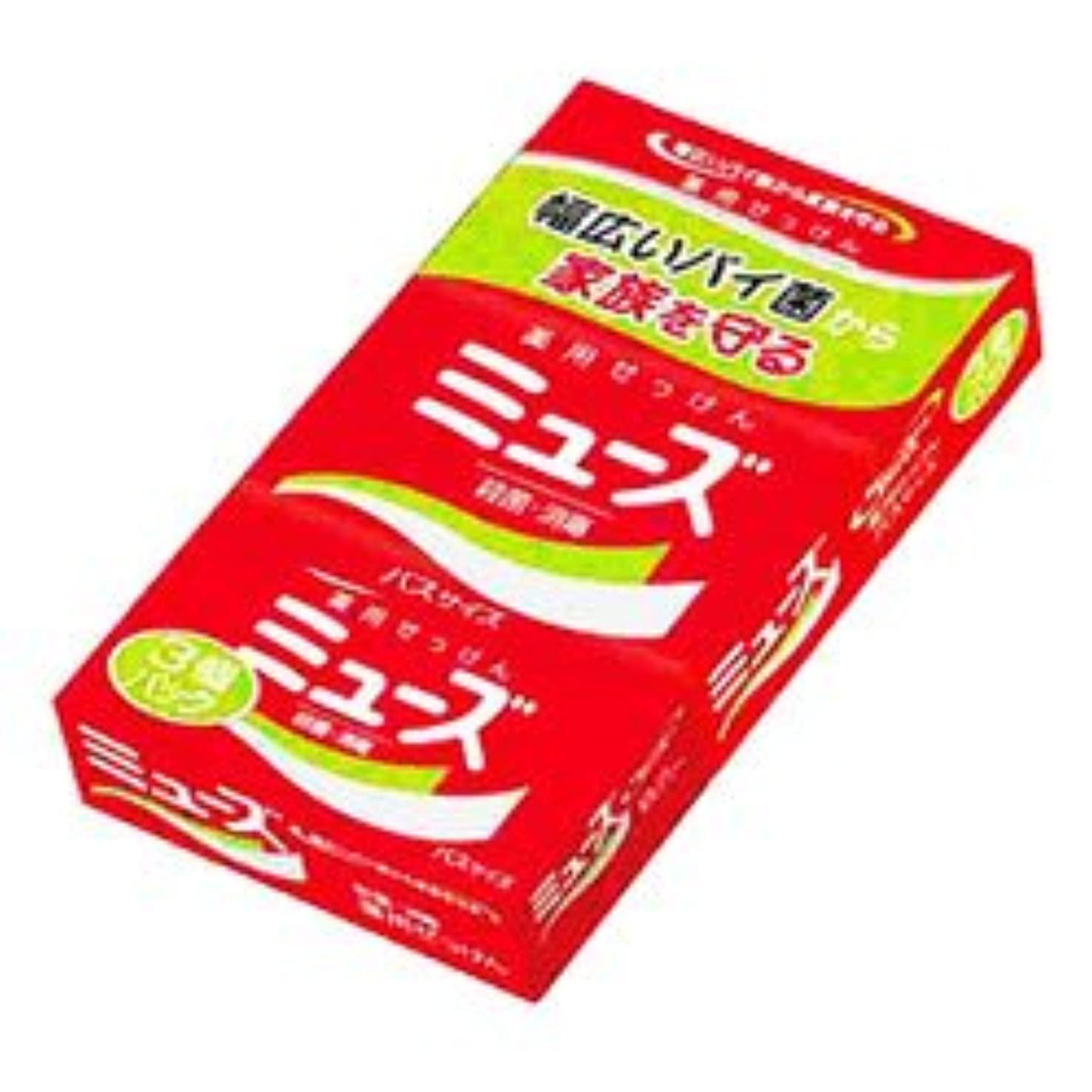 メダルコミットメント打ち上げる【アース製薬】ミューズ石鹸 バスサイズ 135g*3 ×20個セット