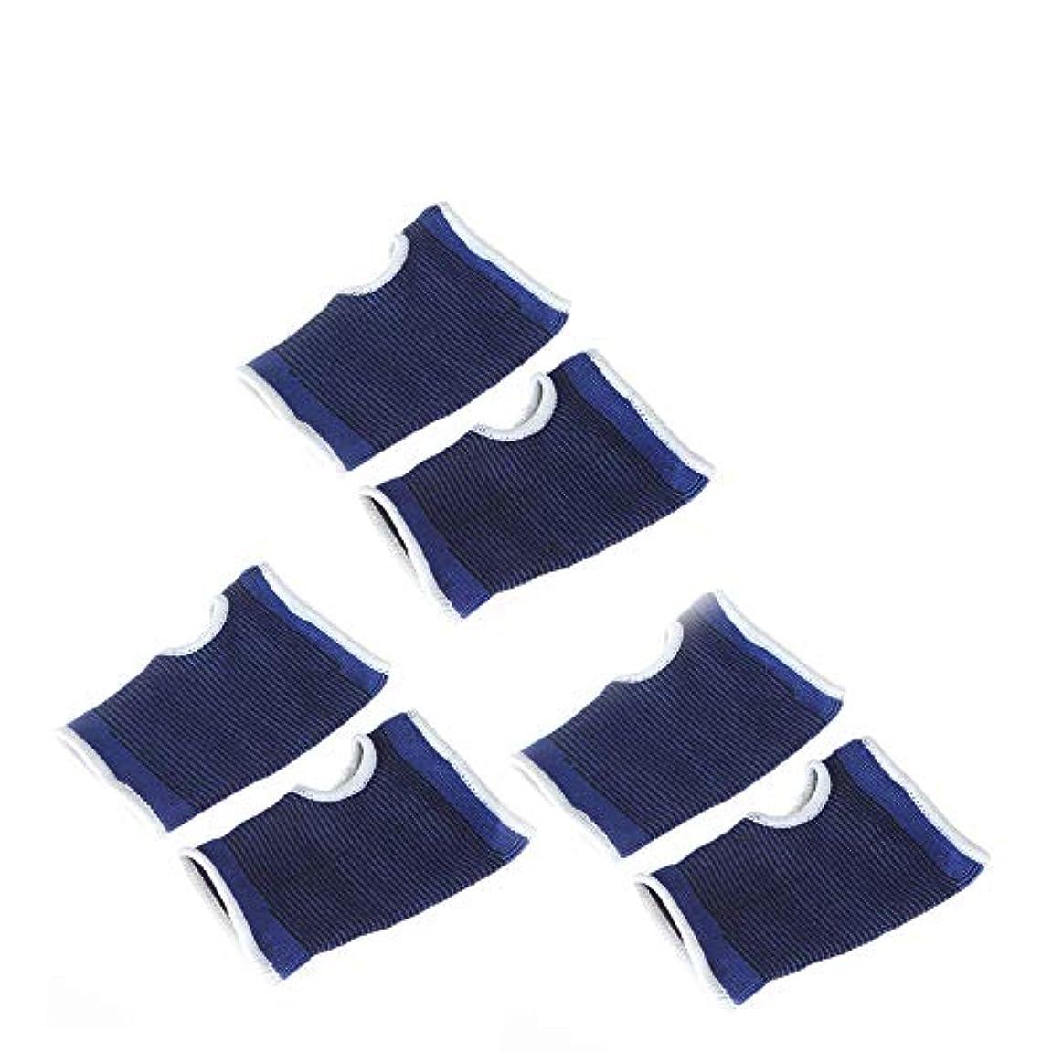 多様なビルタイムリーな1st market 3ペアユニセックスエラスティックパームサポートプロテクターハンドパームリストグローブスポーツブレーススリーブハンドガードメンズ/レディースフィットネスブルーベストチョイス