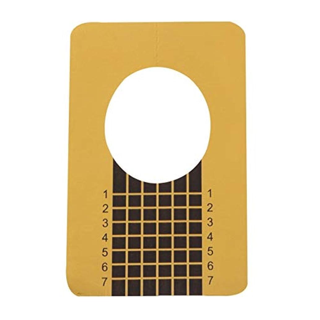 貫通する陪審石の100ピース/セットプロフェッショナルネイルツールのヒントネイルアートガイドフォームアクリルチップジェルエクステンションステッカーネイルポリッシュカールフォームゴールド(色:金色)