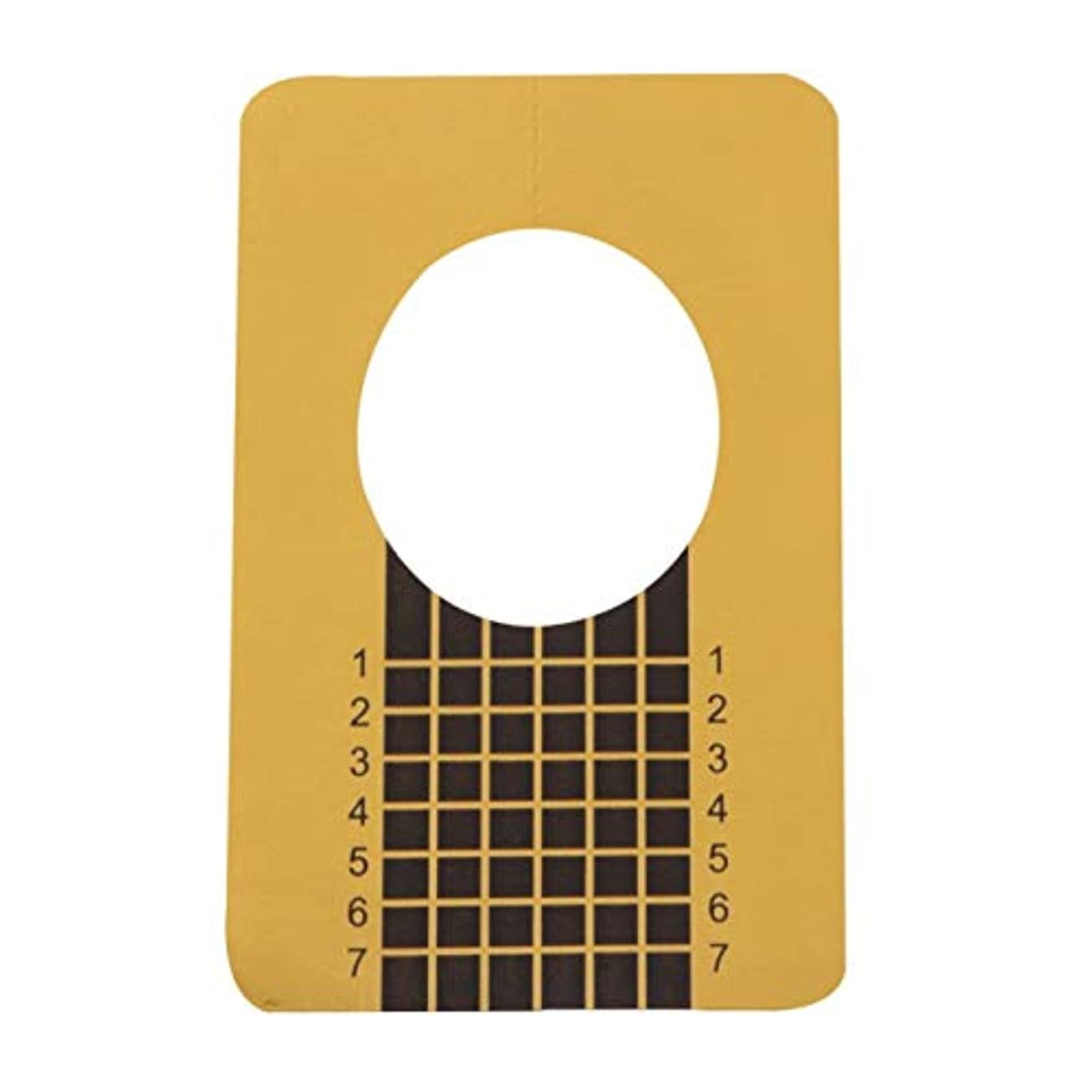 尾槍主張100ピース/セットプロフェッショナルネイルツールのヒントネイルアートガイドフォームアクリルチップジェルエクステンションステッカーネイルポリッシュカールフォームゴールド(色:金色)